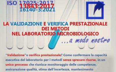 """Corso """"Verifica prestazionale e validazione dei metodi in microbiologia"""""""